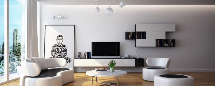 Modern-Black-white-living-room-furniture